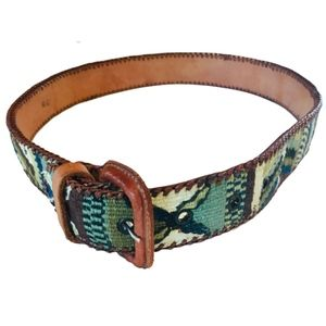 Made in Guatemala | leather embroidered belt